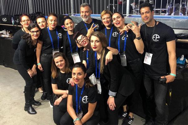 Make up artists della Face Place all'evento Alta Roma 2019
