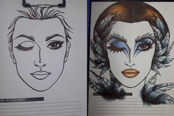 Face chart trucco