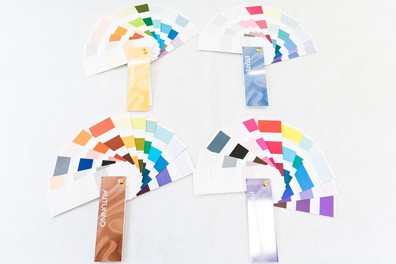 Test dei colori per il trucco Armocromia